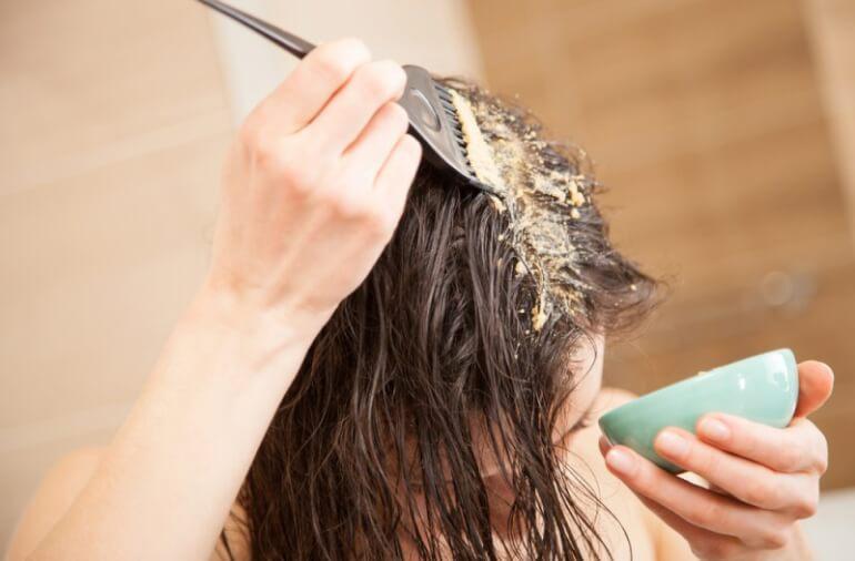 Восстанавливающая маскадля волос с горчицей!